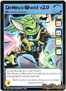 Neopets Trading Card Game Return of Dr. Sloth Uncommon Single #47 Defence Shield v2.0