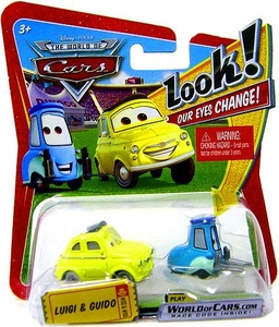 Disney / Pixar CARS Movie 1:55 Die Cast Car with Lenticular Eyes Series 1 Luigi & Guido