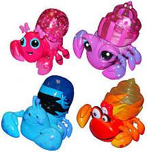 Xia-Xia Pets Set of 4 Hermit Crab Pet Figures [Trinidad, Turks, Tobago & Bimini]