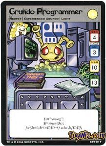 Neopets Trading Card Game Return of Dr. Sloth Uncommon Single #52 Grundo Programmer