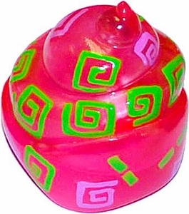 Xia-Xia Pets Hermit Crab Shell Hot Pink with Green Swirls