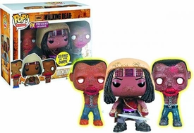Funko POP! Walking Dead Previews Exclusive Vinyl Figure 3-Pack Michonne & Pet Zombies [Glow in the Dark]