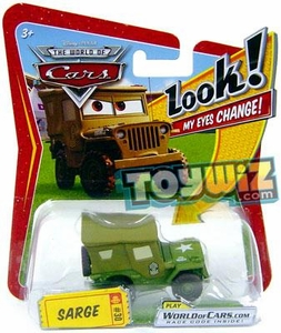 Disney / Pixar CARS Movie 1:55 Die Cast Car with Lenticular Eyes Series 1 Sarge