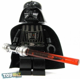 LEGO Star Wars LOOSE Mini Figure Darth Vader with Silver Lightsaber