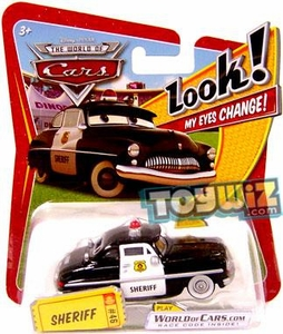 Disney / Pixar CARS Movie 1:55 Die Cast Car with Lenticular Eyes Series 1 Sheriff