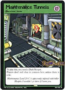 Neopets Trading Card Game Return of Dr. Sloth Uncommon Single #55 Maintenance Tunnels