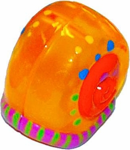 Xia-Xia Pets Hermit Crab Shell Orange with Festive Design