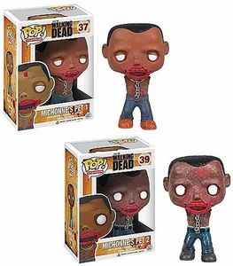 Funko POP! Walking Dead Vinyl Figure Set of 2 Michonne's Pet Walkers Zombies