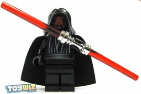 LEGO Star Wars LOOSE Mini Figure Darth Maul with Chrome Double-Sided Lightsaber