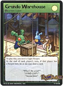 Neopets Trading Card Game Return of Dr. Sloth Holofoil Rare Single #7 Grundo Warehouse