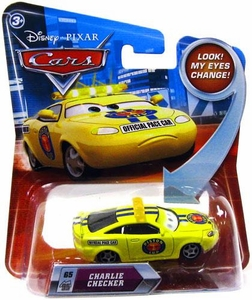 Disney / Pixar CARS Movie 1:55 Die Cast Car with Lenticular Eyes Series 2 Charlie Checker