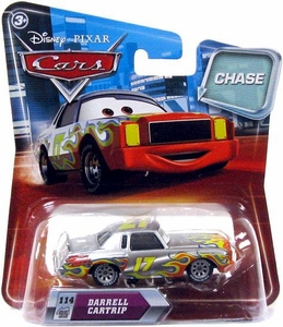 Disney / Pixar CARS Movie 1:55 Die Cast Car Series 2 Darrell Cartrip [Metallic Finish] Chase Piece!