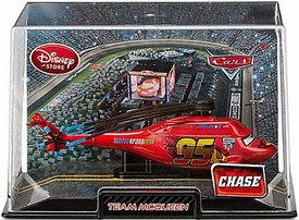 Disney / Pixar CARS Movie Exclusive 1:43 Die Cast Car In Plastic Case Team McQueen {Helicopter} Chase Edition!