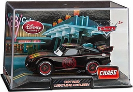 Disney / Pixar CARS 2 Movie Exclusive 1:43 Die Cast Car In Plastic Case Hot Rod Lightning McQueen Chase Edition!