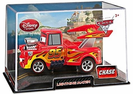 Disney / Pixar CARS 2 Movie Exclusive 1:43 Die Cast Car In Plastic Case Lightning Mater Chase Edition!