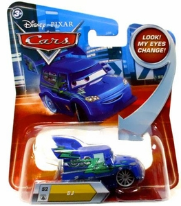 Disney / Pixar CARS Movie 1:55 Die Cast Car with Lenticular Eyes Series 2 DJ