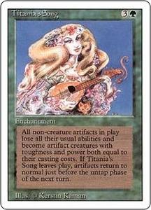 Magic the Gathering Revised Edition Single Card Rare Titania's Song