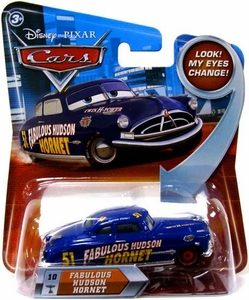 Disney / Pixar CARS Movie 1:55 Die Cast Car with Lenticular Eyes Series 2 Fabulous Hudson Hornet