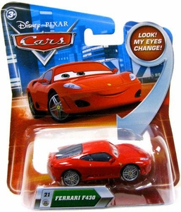Disney / Pixar CARS Movie 1:55 Die Cast Car with Lenticular Eyes Series 2 Ferrari F430