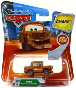 Disney / Pixar CARS Movie 1:55 Die Cast Car with Lenticular Eyes Series 2 Fred with Fallen Bumper Chase Piece!