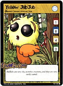 Neopets Trading Card Game Return of Dr. Sloth Common Single #76 Yellow JubJub