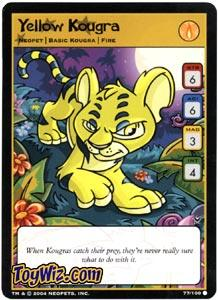 Neopets Trading Card Game Return of Dr. Sloth Common Single #77 Yellow Kougra