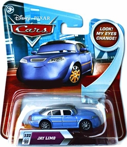 Disney / Pixar CARS Movie 1:55 Die Cast Car with Lenticular Eyes Series 2 Jay Limo