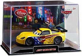 Disney / Pixar CARS 2 Movie Exclusive 1:43 Die Cast Car In Plastic Case Jeff Gorvette