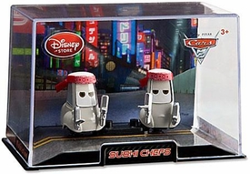 Disney / Pixar CARS 2 Movie Exclusive 1:43 Die Cast Car In Plastic Case Sushi Chefs
