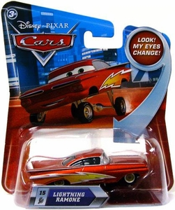Disney / Pixar CARS Movie 1:55 Die Cast Car with Lenticular Eyes Series 2 Lightning Ramone