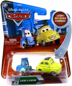 Disney / Pixar CARS Movie 1:55 Die Cast Car with Lenticular Eyes Series 2 Luigi & Guido