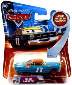 Disney / Pixar CARS Movie 1:55 Die Cast Car with Lenticular Eyes Series 2 Mario Andretti