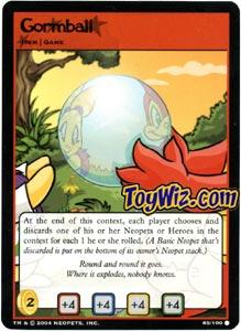 Neopets Trading Card Game Return of Dr. Sloth Common Single #85 Gormball