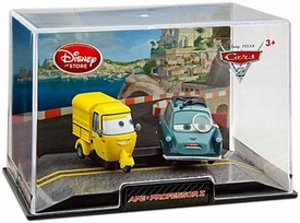 Disney / Pixar CARS 2 Movie Exclusive 1:43 Die Cast Car In Plastic Case Ape [Yellow] & Professor Z