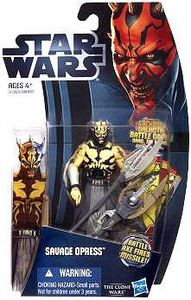 Star Wars 2012 Clone Wars Action Figure #03 Savage Opress [Battle Axe Fires Missile!]