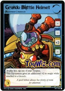 Neopets Trading Card Game Return of Dr. Sloth Common Single #87 Grundo Battle Helmet