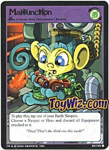 Neopets Trading Card Game Return of Dr. Sloth Common Single #89 Malfunction
