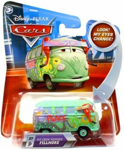 Disney / Pixar CARS Movie 1:55 Die Cast Car with Lenticular Eyes Series 2 Pit Crew Member Fillmore
