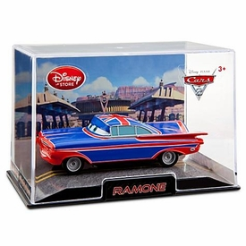 Disney / Pixar CARS 2 Movie Exclusive 1:43 Die Cast Car In Plastic Case Ramone [UK Flag Paint Job]