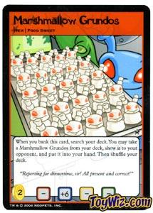 Neopets Trading Card Game Return of Dr. Sloth Common Single #90 Marshmallow Grundos
