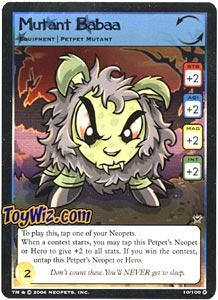 Neopets Trading Card Game Return of Dr. Sloth Holofoil Rare Single #10 Mutant Babaa