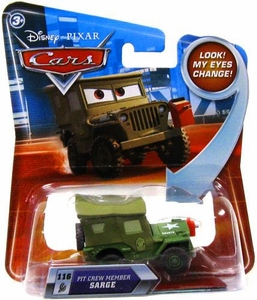 Disney / Pixar CARS Movie 1:55 Die Cast Car with Lenticular Eyes Series 2 Pit Crew Member Sarge