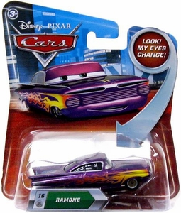 Disney / Pixar CARS Movie 1:55 Die Cast Car with Lenticular Eyes Series 2 Purple Ramone