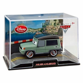 Disney / Pixar CARS 2 Movie Exclusive 1:43 Die Cast Car In Plastic Case Miles Axlerod