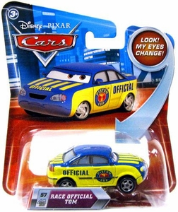 Disney / Pixar CARS Movie 1:55 Die Cast Car with Lenticular Eyes Series 2 Race Official Tom