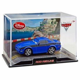 Disney / Pixar CARS 2 Movie Exclusive 1:43 Die Cast Car In Plastic Case Rod Redline