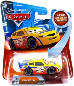 Disney / Pixar CARS Movie 1:55 Die Cast Car with Lenticular Eyes Series 2 RPM No. 64