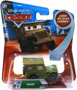 Disney / Pixar CARS Movie 1:55 Die Cast Car with Lenticular Eyes Series 2 Sarge
