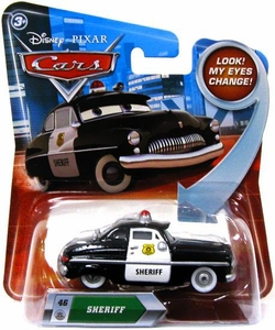 Disney / Pixar CARS Movie 1:55 Die Cast Car with Lenticular Eyes Series 2 Sheriff
