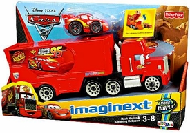 Disney / Pixar CARS 2 Movie Imaginext Exclusive Mack Hauler & Lightning McQueen